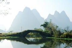 Karstlandskap i Guilin, Kina Royaltyfri Bild