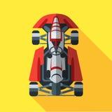 Kart com ícone do motorista Imagem de Stock