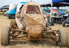Kart cross, buggy car off road. With mud Royalty Free Stock Photos