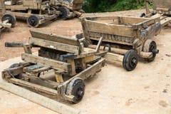 Kart de madeira em Chiang Mai, Tailândia fotografia de stock royalty free