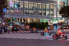 Kart de Mario sur le secteur de Shibuya à Tokyo, Japon image libre de droits