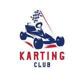 Kart with finish flag vector design. Template Royalty Free Stock Image