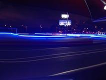 Kart grande da noite que compete a estrada imagem de stock royalty free