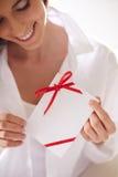 kart kopert wiadomości romantyczny sześć valentine zdjęcia royalty free