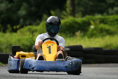 Kart number one. Kart with number one on the track Stock Photo
