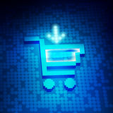 Kart. Online Shopping Concept, market kart icon on a digital screen Stock Photography