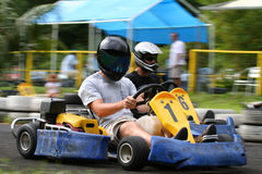 Kart overtaking. An other Royalty Free Stock Photos