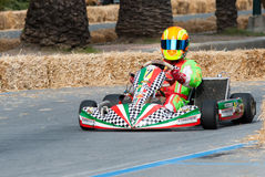 Kart pilot. Unknown pilot competing in the race Trophy of Town Sanremo - 7th Memorial Luca Guazzoni 03-05.05.2013 Sanremo Italy Stock Photo