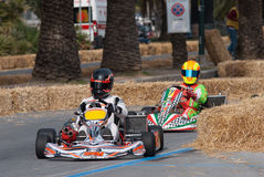 Kart pilots. Unknown pilots competing in the race Trophy of Town Sanremo - 7th Memorial Luca Guazzoni 03-05.05.2013 Sanremo Italy Stock Photos
