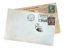 kart poczta rocznik zdjęcia royalty free