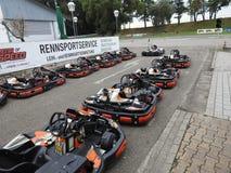 Kart que compete para crianças Imagem de Stock
