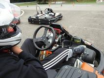 Kart que compete para crianças Imagem de Stock Royalty Free