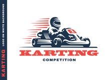 Kart que compite con al ganador Foto de archivo libre de regalías
