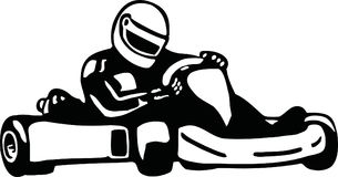 Kart racer. Vector sports icon Stock Photography