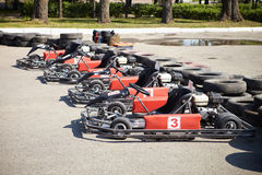 Kart Racing.   Royalty Free Stock Photo
