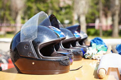 Kart Racing. Helmets. Royalty Free Stock Images