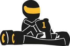 Kart racing icon. Vector sports Royalty Free Stock Photo