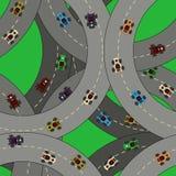 Kart racing pattern Stock Photo
