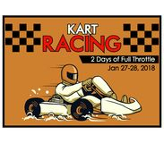 Kart Racing Poster. Vector illustration design for go kart poster Stock Image