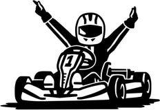 Kart racing winner. Vector sports Stock Photo