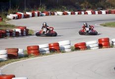 Kart Rennen 1 Stockfotos