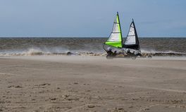 Kart sailing on the beach Royalty Free Stock Images