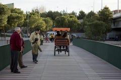 Kart sur un pont images libres de droits