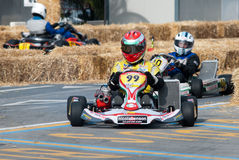 Kart on the track Royalty Free Stock Photos