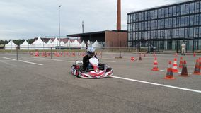 Kart. Training winnenden germany Royalty Free Stock Image