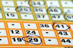 karta bingo zdjęcie stock