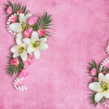 Karta dla wakacje z kwiatami Fotografia Stock