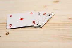 Karta do gry cztery as grupa royalty ilustracja