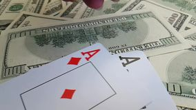 Karta do gry dolarów zwolnionego tempa gotówki najwyższej wygrany zwycięzca zbiory