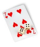 Karta do gry i dices zdjęcie royalty free