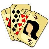 Karta do gry kostiumu damy as również zwrócić corel ilustracji wektora ilustracja wektor