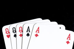 Karta do gry, Pełny dom Obrazy Stock