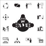 karta do gry przy stołową ikoną Rozmowy i przyjaźni ikon ogólnoludzki ustawiający dla ilustracji