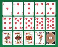 Karta do gry serca ilustracji