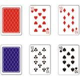 Karta do gry ustawia 03 Zdjęcia Royalty Free
