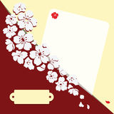 karta kwitnie romantycznego Zdjęcia Stock