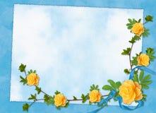 karta kwitnie wakacyjnych faborki Fotografia Stock