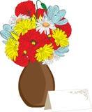 karta kwitnie wiosna wazę Obraz Royalty Free