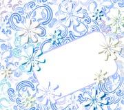 karta kwitnie zima Obraz Stock