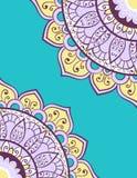 Karta lub zaproszenie z mandala wzorem Obrazy Royalty Free