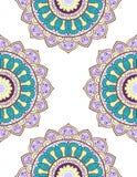 Karta lub zaproszenie z mandala wzorem Fotografia Royalty Free