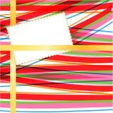 Karta na abstrakcjonistycznym tle Zdjęcie Stock