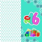Karta nowy rok 2016 Zdjęcie Stock