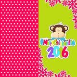 Karta nowy rok 2016 Fotografia Stock