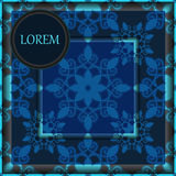 Karta plakat, broszurka szablon z orientalnym kwiatem armenian o Obraz Stock