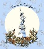 Karta - powitanie Ameryka usa podróż Fotografia Stock